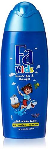 Fa Kids for Pirates Duschgel und Shampoo für Jungen, 250 ml