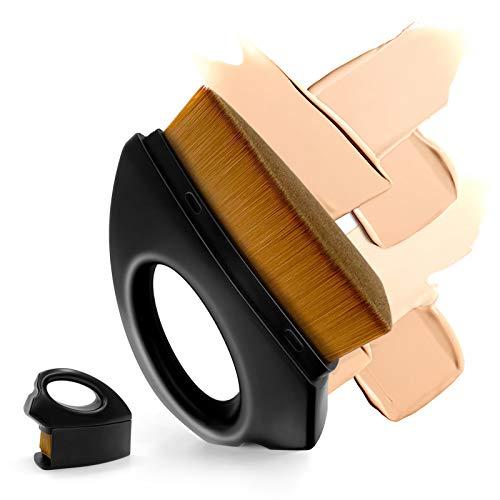 Pennello per Fondotinta Professionale Pennello Liquido Pennello per Trucco, Pennello per Viso a Doppio uso Asciutto e Bagnato per Sfumare Crema Liquida Polvere Impeccabile Cipria in Polvere