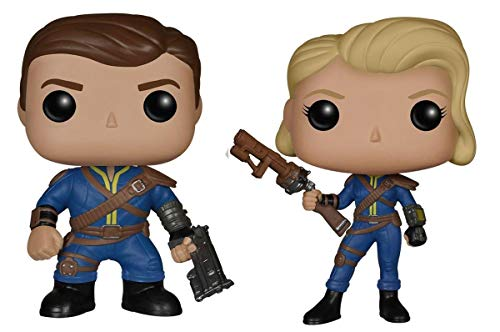 Funko Fallout Pop Vinyl Figure Bundle: Lone Wanderer (Male & Female)