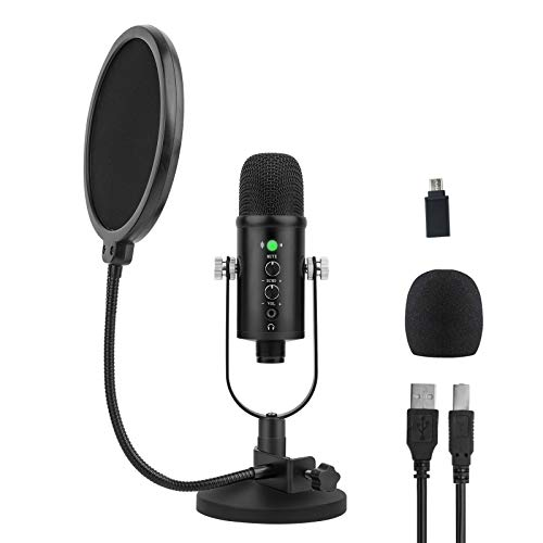 USB Microphone for Computer, Mic for Gaming, Podcast, Recording, Streaming, Zoom on PC/Mac/Laptop....