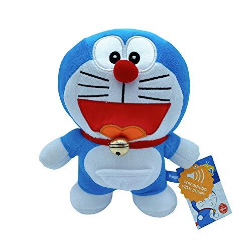 """Peluche con Sonido, Modelo Clásico, Dorayaqui, Gorrocóptero y Sonriente, 28 cm (11"""") de Licencia Oficial (Doraemon Sonriente)"""