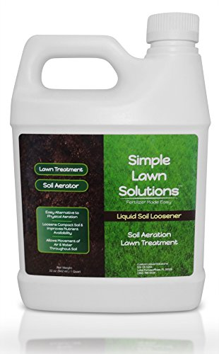 Best liquid lawn fertilizer concentrate - Liquid Aerating Soil Loosener- Aerator Soil Conditioner- No Mechanical or Core Aeration- Simple Lawn Solutions- Any Grass Type, All Season- Great for Compact Soils, Standing Water, Poor Drainage.