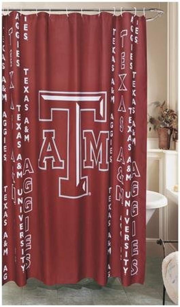 遠近法国民投票廃棄Texas A & Mシャワーカーテン