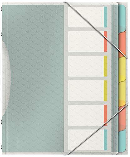 Esselte Colour'Ice Ordnungsmappe, A4, 6 Fächer, PP, Mehrfarbig, 626255