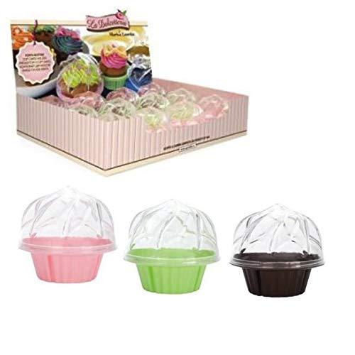GP & Me 0919 filtre 12 pièces Assortiments de Couleurs Présentoir de comptoir avec support pour cupcakes Lot, 40 x 30 cm, Coque en silicone