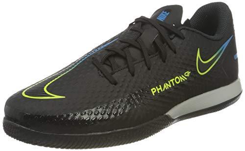 Nike JR Phantom GT Academy IC, Scarpe da Calcio, Black/Black-Cyber-lt Photo Blue, 37.5 EU