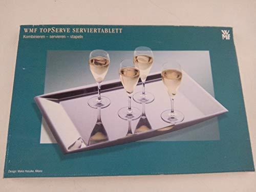 WMF Serviertablett TOP Serve, Design: Makio Hasuike, Milano, Cromargan: Edelstahl Rostfrei 18/10, mattiert, 50 x 33 cm