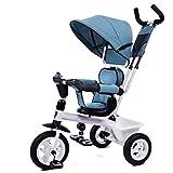Passeggini 4-in-1 Passeggino, Regolabile Sedile Cintura Pieghevole Pedal Storage Bag Freni...