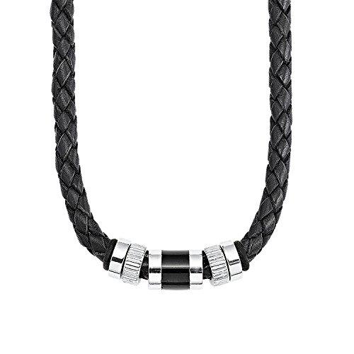 s.Oliver 387279 - Collar de hombre de acero inoxidable, 48 cm