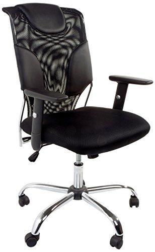 Tomasucci Fashion Polstersessel fürs Büro, Mikrofaser, Schwarz