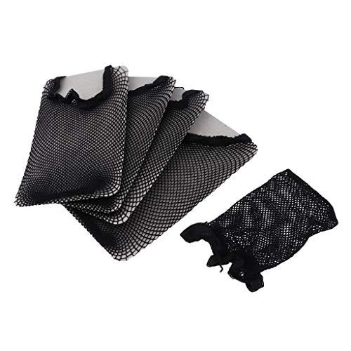 Fenteer 5x Bonnet Perruque Casquette Maille Tissage Chapeaux Extensions de cheveux Net Faire Perruques