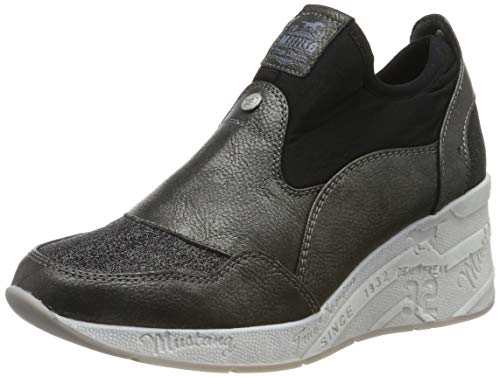 Mustang Damen 1319-401-987 Slip On Sneaker, Schwarz (Schwarz/Glitzer 987), 40 EU