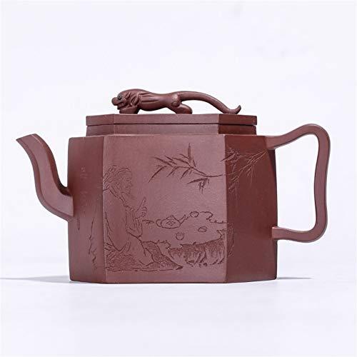 Teapot Tea cup Jaguar Folk Arts Division The Power To Send Large Handmade Gift Items Pot LYFTLKJ (Color : Purple mud, Size : One Size)