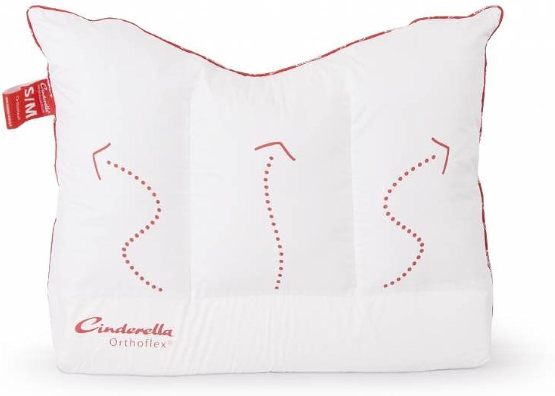 Cinderella Orthoflex rechteckig 60 x 70 cm weiß Kissen Bettwäsche B01C6CMTH6