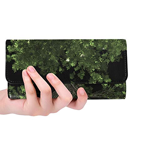 Unique Custom Zelkova Serrata Tree Bonsai Zelkova Serrata Women Trifold Wallet Long Purse Credit Card Holder Case Handbag