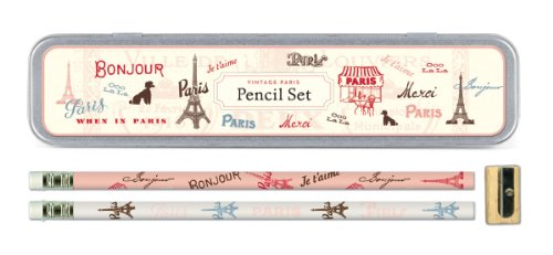 Pink I Love Paris Pencils