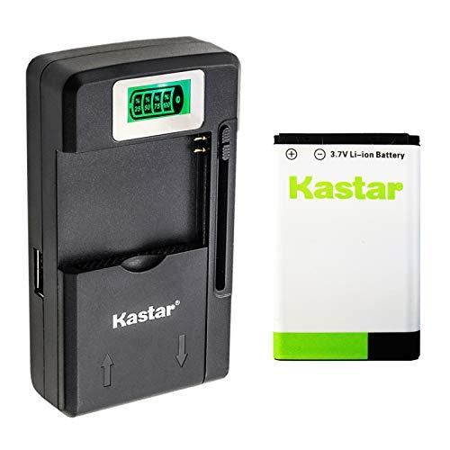 Kastar BL-5C Battery 1-Pack and Intelligent Mini Travel Charger for Shortwave All Hazard Radio, V-115 Portable Shortwave Transistor Radio AM/FM Stereo, Meloson Enhanced Portable AM FM Weather Radio