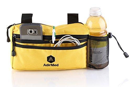 AdirMed Wheelchair Pouch - Rollator Pouch - Walker Pouch - Yellow