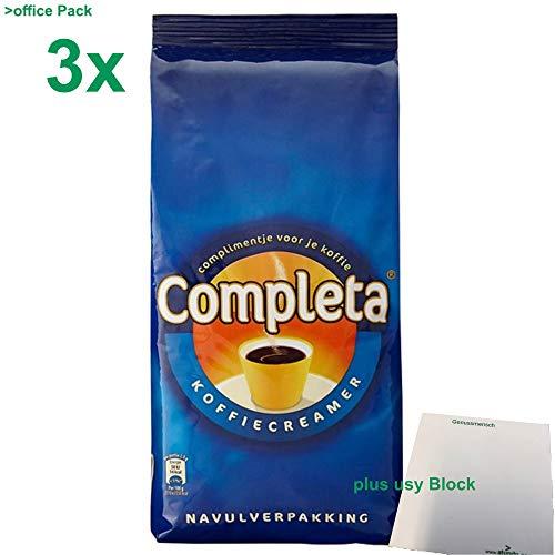 Completa Kaffeeweißer Kaffeecreamer 3x1kg Sack plus usy Block