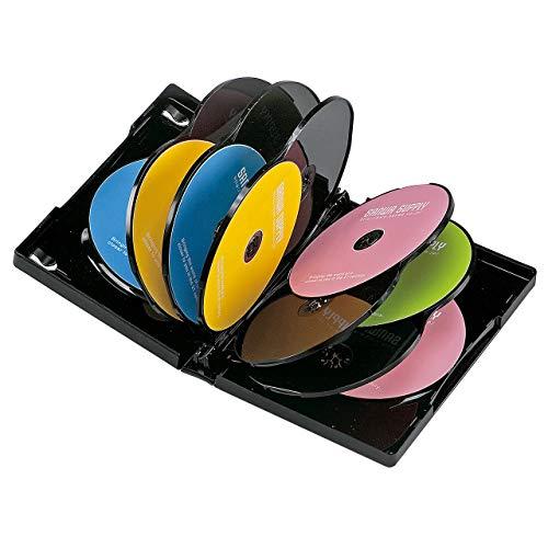 サンワサプライ DVDトールケース(12枚収納) ブラック 1枚セット DVD-TW12-01BK
