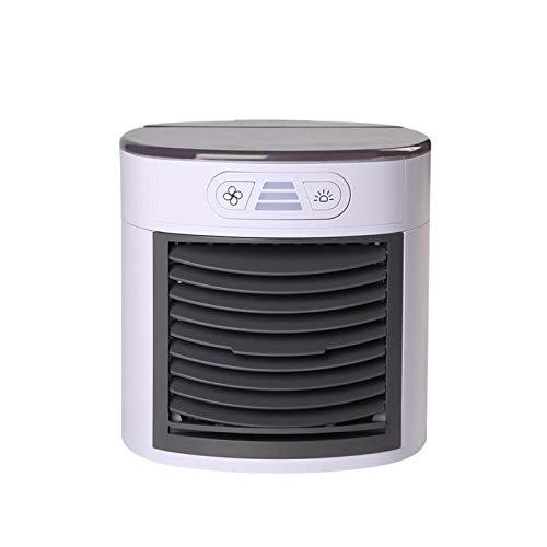 con Aire Acondicionado de Control Remoto Ventilador de Aire Acondicionado Mini Tres Modo de Engranajes Ventilador de refrigeración Aire Acondicionado escarchador 7 Color LED Ventilador