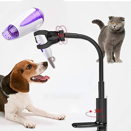 Soporte para secador de pelo de la marca none Brand, rotación de 360 grados, soporte ajustable para mesa de belleza suministros para mascotas