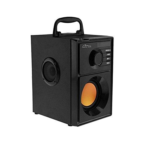 Media-Tech Boombox BT Stereo 15W Rechteck schwarz Stereo, tragbare Lautsprecher (verkabelt & kabellos, Batterie/Akku, USB, 80–20.000Hz, Bluetooth, Universal)
