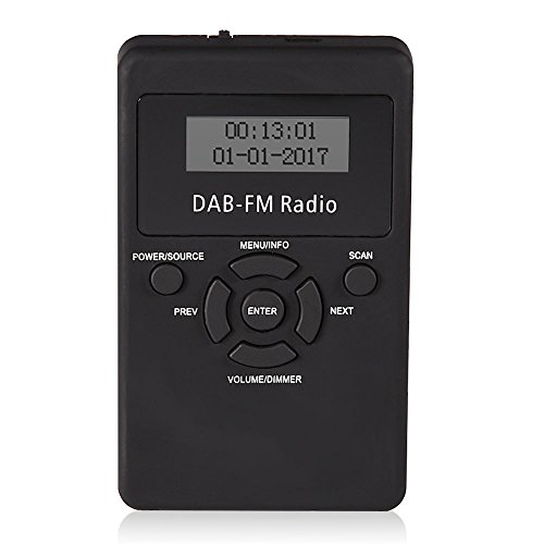 eboxer-1 Portable DAB/DAB+ Digital FM Radio with LCD Display, Rechargeable Replaceable Battery Personal Pocket Handheld Radio with Headphones