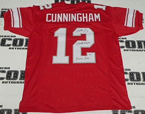 Randall Cunningham Signed UNLV Rebels Football Jersey BAS Beckett COA Autograph - Autographed College Jerseys