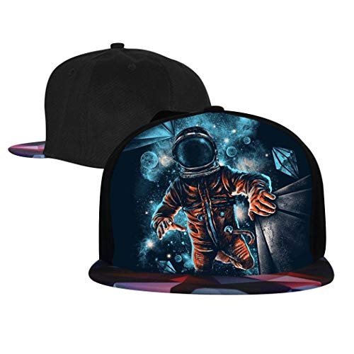 Addsomeing Unisex Snapback Hats Astronauts in Galaxy Space Pattern Anime...