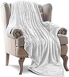 Utopia Bedding Fleece Blanket Throw Size White 300GSM Luxury Bed Blanket Anti-Static Fuzzy Soft Blanket Microfiber