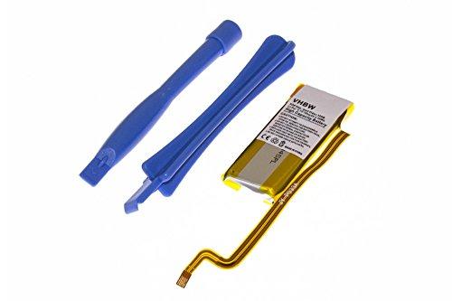 Batería Li-Polymer vhbw 450mAh (3.7V) para Video MP3 Player Apple iPod U2 30GB MA664, Video 30GB como 616-0227, 616-0229, EC008.