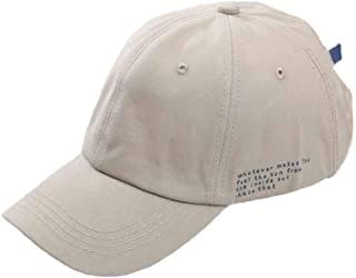 Simple Letter Embroidery Adjustable Baseball Cap, Spring and Summer Black Wild Soft Top Cap,Beige