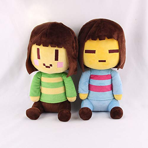Latim 8' Undertale Character Frisk and Chara Plush Doll Soft Stuffed Toy Kids Gift