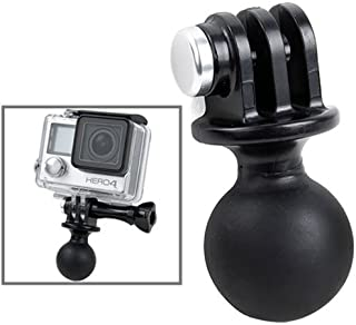 """PULUZ for GoPro Adapter with 1"""" Ball for RAM Mounts - Universal Conversion Adapter Tripod Ball Head Base Mount for GoPro N..."""