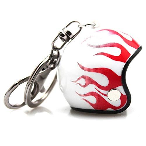 Schlüsselanhänger Motorradhelm Flaming