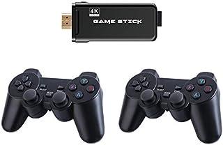 جهاز تحكم ألعاب جنيريك X8 SDRAM DDR3 256MB Wireless 4K UHD Game Stick 32GB 3550 Games TV Player مع جهاز تحكم ألعاب 2.4G ال...