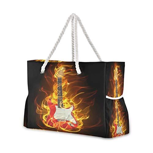 Bolsa grande de viaje para la playa de la guitarra eléctrica con...