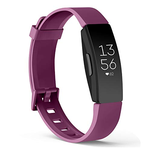 Amzpas Compatible para Fitbit Inspire Correa & Inspire HR Correa, Soft Deportes Pulseras Reemplazo Band Compatible para Fitbit Inspire & Fitbit Inspire HR (07 Púrpura, L)