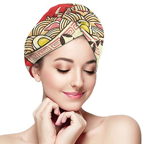 Tappetino Kawaii Ramen - Toalla para cabello seco y secado r