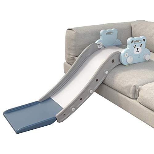 WHL Sofá para Niños Tobogán para Niños Tablero Portátil De Plástico Antideslizante para Interiores Escaleras Al Aire Libre Primer Tobogán Adicional Juego De Juegos Juguetes Bebé Actividades(Color:re)