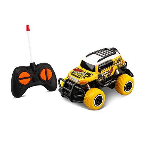 TENOL Spielzeugauto für 2 Jahre Jungen Mini RC Auto Jungen Kleinkind Fernbedienung Auto für 3-6 Jahre alte Jungen Off-Road Auto Kinder für 4-5 Jahre Kinder Jungen RC Wagen für 3 Jahre alt Pickup Blau