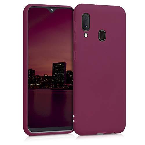kwmobile Hülle kompatibel mit Samsung Galaxy A20e - Hülle Handyhülle - Handy Hülle in Bordeaux Violett