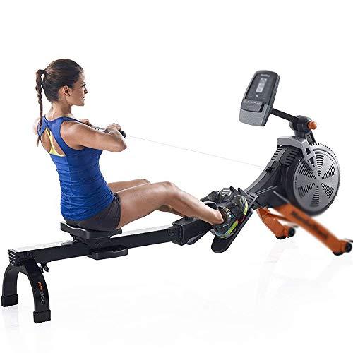 FYYDNR Máquina de Remo, máquina de Remo con Aire y Resistencia magnética, la Pantalla retroiluminada Activa automáticamente al iniciar el Ejercicio