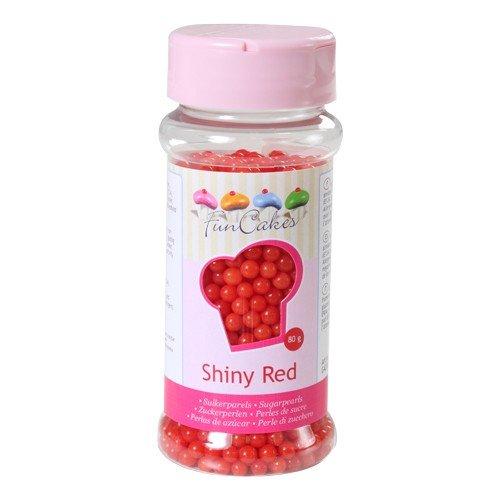 FunCakes Perlas de Azúcar -Rojo Brillante