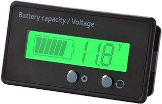 Digital LCD Battery Capacity Monitor Gauge Meter, Waterproof 12/24/36/48V LCD Lead-Acid Battery and Lithium Battery Capaci...