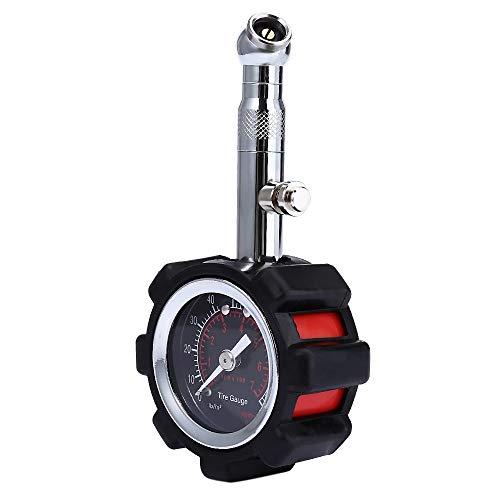 TANGIST Medidor de presión de neumáticos de alta precisión Negro 100 PSI Para calibre de neumáticos preciso de aire de aire para camión de automóviles y motocicleta