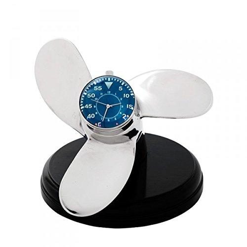 Casa Padrino Designer Tisch Uhr Marine Schiffsschraube - Eyecatcher Seefahrer Uhr