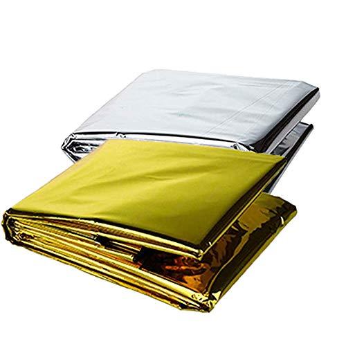 Dosige Rettungsdecke, Rettungsfolie, Notfalldecke, Erste- Hilfe- Decke, Gold/Silber(Zufällige Farbe), 210 x 130cm, 1 Stück