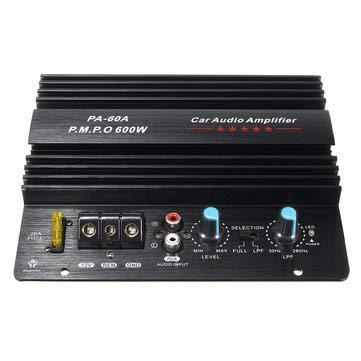 WZhen 12V 600W Amplificador De Audio De Alta Potencia Momo Amplificador De La Placa De Graves De Bajo Subwoofers Amperios Pa-60A Cod